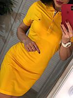 Желтое платье поло Турция, фото 1