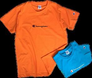 Мужские футболки Champion (ориг.бирка и качество) оранжевая и синяя