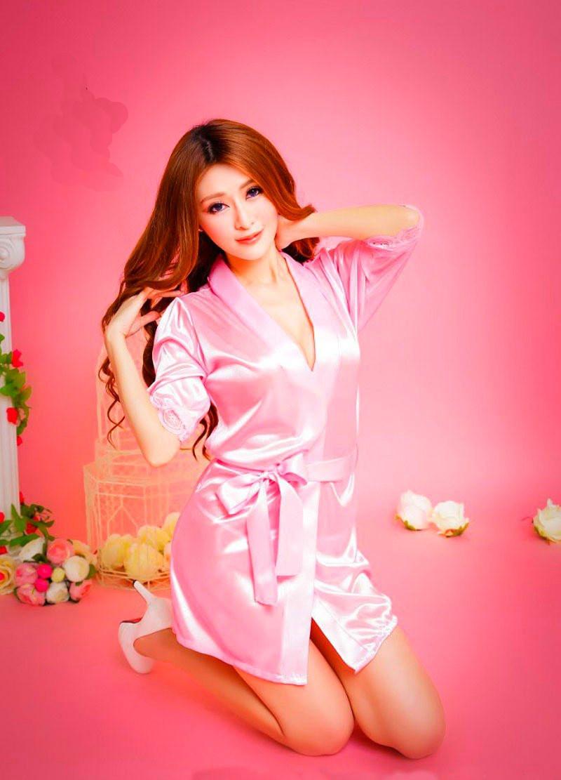 Нежнейший розовый халатик бэбидолл babydoll боди нижнее белье Эмбер 3981 с кружевом на рукавах сексуальный ре4