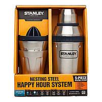 Набор туристической посуды Stanley Adventure Happy Hour (шейкер 0.59 л и 2 чашки 0.21 л) Стальной