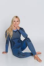 Комплект женского термобелья с шерстью альпаки HASTER ALPACA WOOL зональное бесшовное шерстяное, фото 2