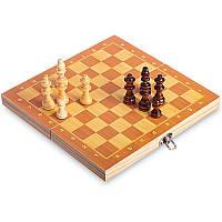 Настольная игра шахматы деревянные на магнитах Zelart Chess 6702 (29x29 см)