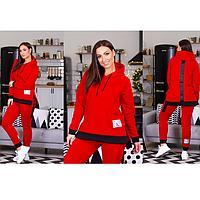 Спортивный костюм женский теплый на флисе 48-58 в цветах