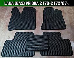 ЕВА коврики на Lada (Ваз) Priora 2170-2172 '07-. Ковры EVA Лада Приора 2171