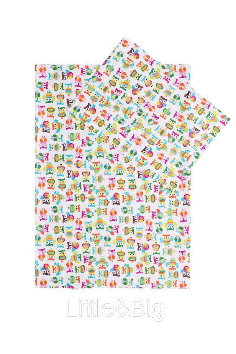 Комплект детского постельного белья Милашки (Пододеяльник 140*100, наволочка 40*60 + ПРОСТЫНЬ на резинке)