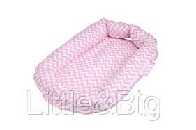 Гнездо-позиционер для новорожденных Babynest Pink LC