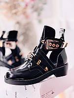 Крутые женские ботинки BALENCIAGA Creepers с ремешками (реплика)