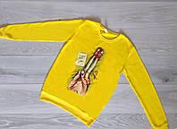 Батник женский Турция р.S.M.L Оптом Желтый, фото 1
