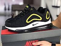 Мужские кроссовки Nike Air Max 720 черно белые \ желтые