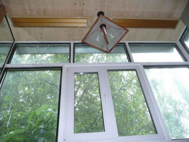 Отопление балкона ик обревателями