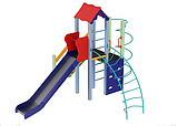 Детский комплекс Маяк, высота горки 1,5 м, фото 3