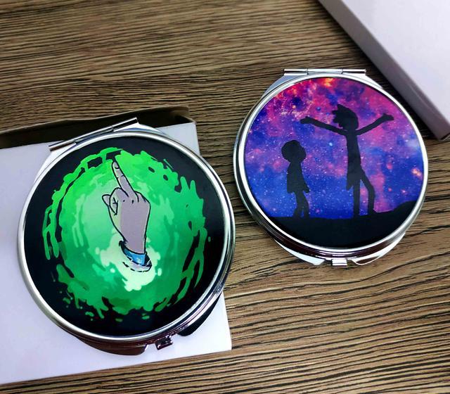 Складное карманное зеркальце Рик и морти