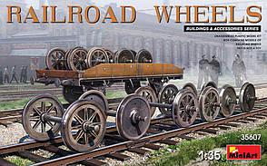 Железнодорожные колеса в масштабе 1/35. Сборная модель. MINIART 35607