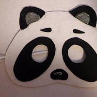 Маска на Хэллоуин из фетра Панда
