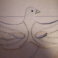 Карнавальная маска - очки Голубь -Голубка