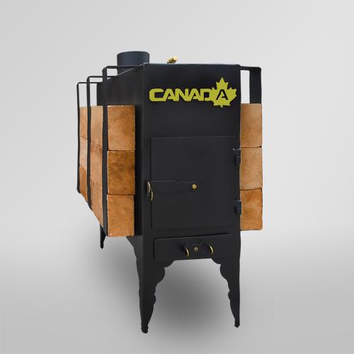 Печь дровяная CANADA с теплоаккумулятором длительного горения