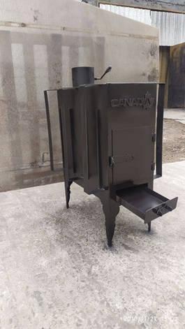 Печь дровяная CANADA с теплоаккумулятором длительного горения, фото 2