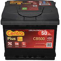 Аккумулятор Centra Plus 50AH/450A (CB500)