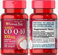 Puritan's Pride, Коэнзим Q10, 100 мг, 30 капсул
