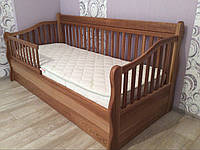 Кровать детская подростковая Лера, массив дуб, ясень, фото 1