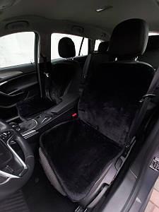 Автомобильная накидка на сиденье из овчины Черная