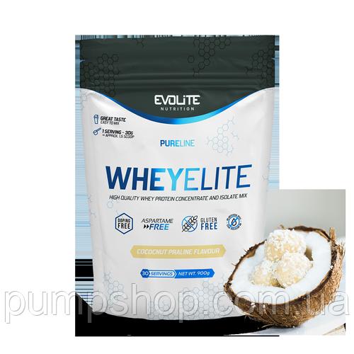 Сывороточный протеин Evolite Nutrition WheyElite 900 г