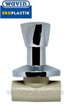 Вентиль прохідний 20 метал. ручкою Ekoplastik, фото 2