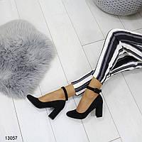 Туфли на каблуке с ремешком на щиколотке