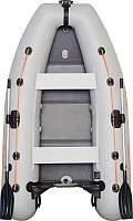 КМ-280DL лодка КОЛИБРИ надувная двухместная легкая килевая моторная ПВХ (Kolibri), слань - книжка, подвижные с