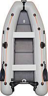 КМ-330DL лодка КОЛИБРИ надувная четырехместная легкая килевая моторная ПВХ (Kolibri), слань - книжка, подвижны
