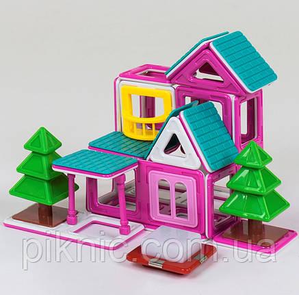 Конструктор магнитный Пляжный домик для девочек, 38 деталей. Детский игровой набор, фото 2