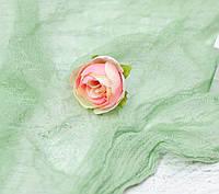Головка пиона 3см. крем-розовый