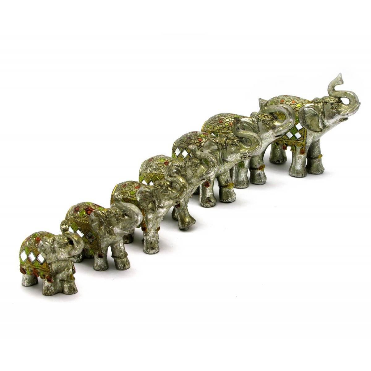 Слоны набор 7 шт 28,5х23х7 см 28539
