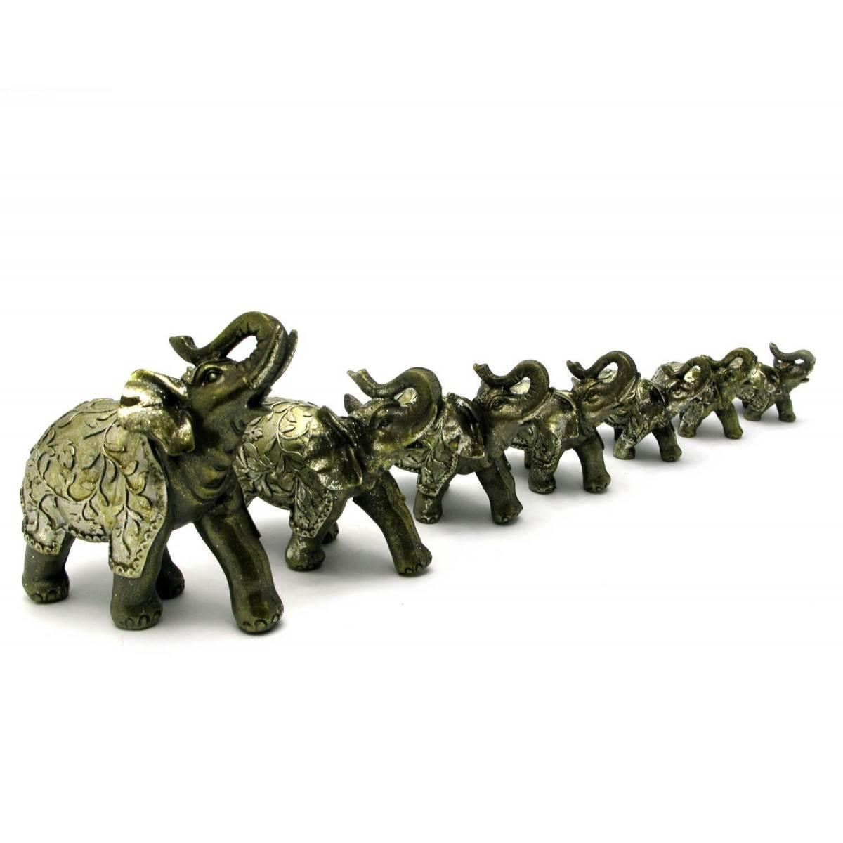 Слоны набор 7 шт 28х25х9 см 28546
