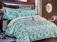 Постельное белье класса Люкс Blumarine сатин-жаккард з кружевом євро размер