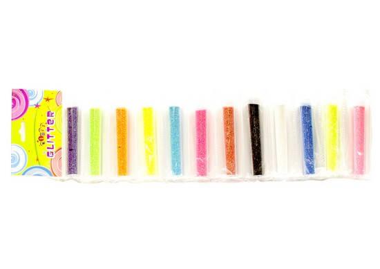 Гліттер неоновий в пробірці на стрічці, 12 кольорів, 1985, фото 2