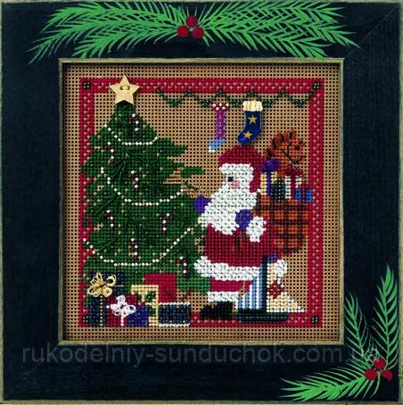 "Набор для вышивания ""Santa's Visit//Визит Санты"" Mill Hill MHCB189"