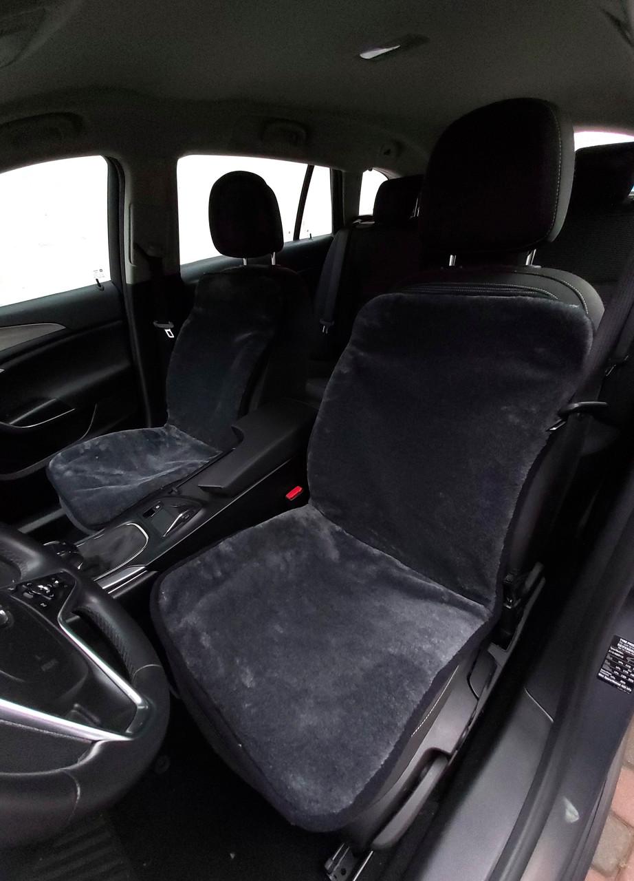 Автомобильная накидка на сиденье из овчины Серая