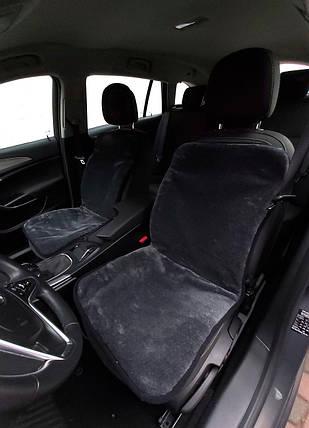 Автомобильная накидка на сиденье из овчины Серая, фото 2