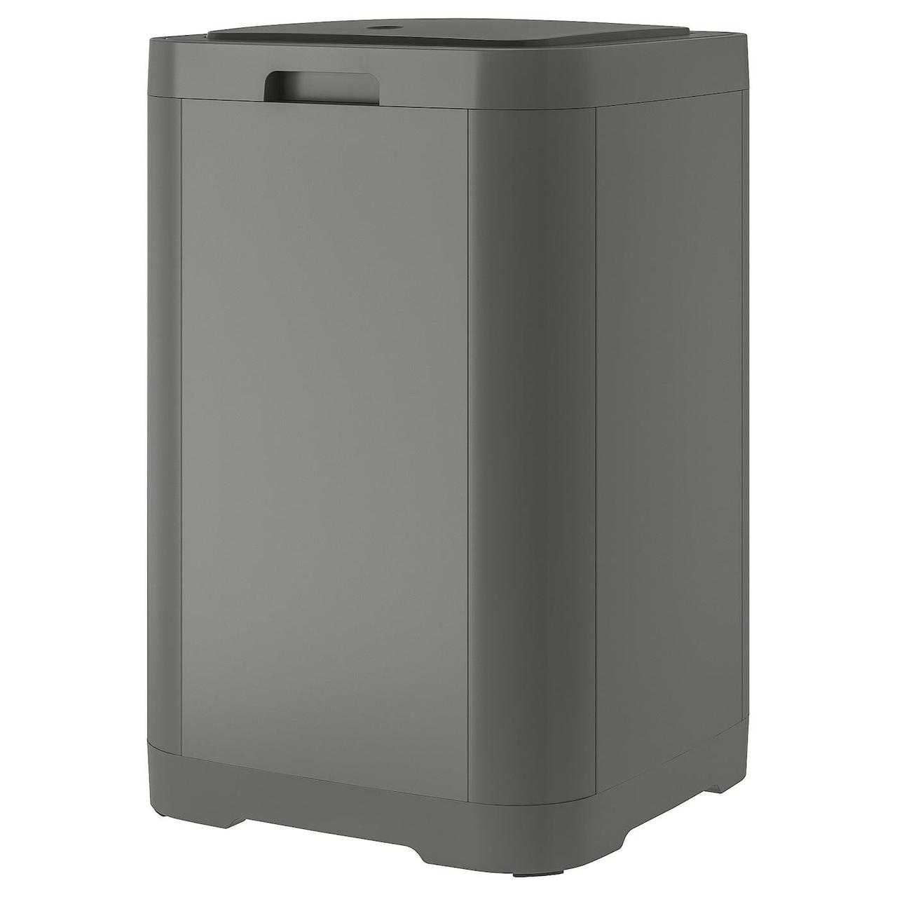 Контейнер с крышкой д/мусора IKEA GIGANTISK темно-серый 60 л 203.140.71