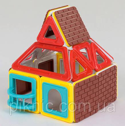 Конструктор магнитный Домик, 32 детали. Детский игровой набор, фото 2