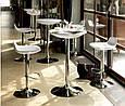 Стіл барний Аміра, регулюється по висоті, колір білий і чорний ., фото 2