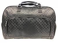 Женская сумка саквояж дорожная черная текстильная большая для поездок