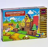 Конструктор магнитный Ферма для детей, 74 детали. Детский игровой набор
