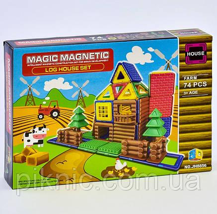 Конструктор магнитный Ферма для детей, 74 детали. Детский игровой набор, фото 2