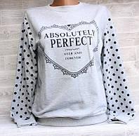 """Світшот жіночий модний PERFECT, розмір унів 42-46 (7цв) """"LEDI"""" купити недорого від прямого постачальника, фото 1"""