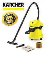 Пылесос KARCHER WD 3 для влажной/сухой уборки, пылесос Кархер, Керхер, каршер,Кершер ВД3