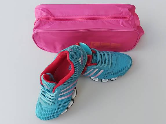 Чехол-сумка розового цвета для хранения и упаковки обуви с прозрачной вставкой, длина 33 см, фото 2