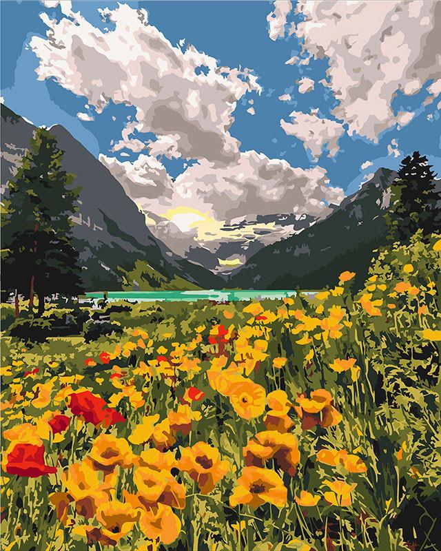 Картина по номерам Идейка Величественные Альпы (KHO2268) 40 х 50 см (Без коробки)