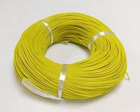 Провод силиконовый 18 AWG - 0,75 кв.мм(150х0,08)200 м Желтый